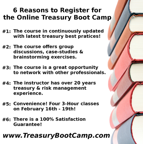 Six Reasons to Attend the Treasury Boot Camp